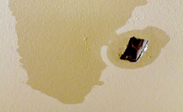 ceiling water damage first restoration services