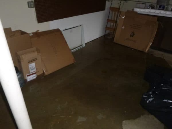 flood damage cleanup in Basement